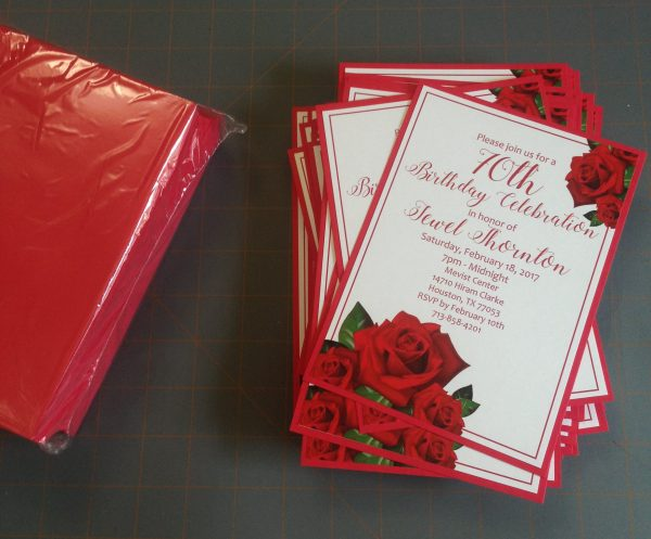 assembled invitaions